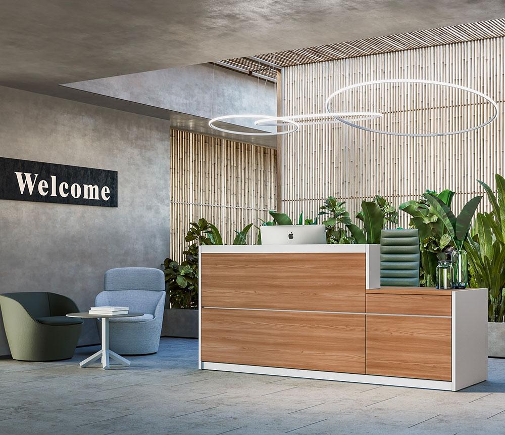 Arredamenti e mobili per ufficio arredo ufficio mantova for Mobili da reception